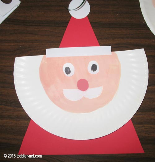 paper plate santa hats craft paper plate santa claus craft for children 7024