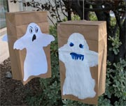 paper bag ghosts