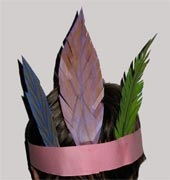 Kids Craft - native american feather hat