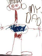 My Dad - Toddler's art