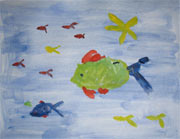 swimming fish painting