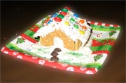 kids craft - Gingerbread house