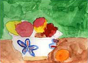 Fruits - child's still life painting