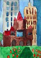 City Landscape - Child's painting