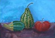 squashes - kids painting