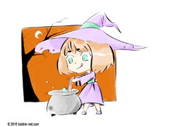 Halloween coloring page - Little Witch