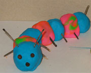caterpillar from play dough