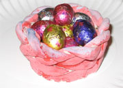 play dough easter basket