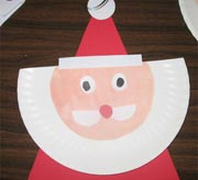Santa - Craft from a paper plate