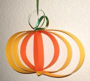 Pumpkin Craft from Strips of Paper