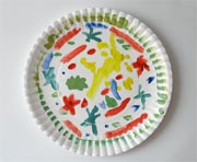 hand-painted paper plate