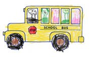 School Bus with kids