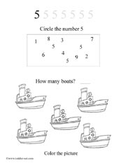 number 5 worksheet - Activity Worksheets For Toddlers