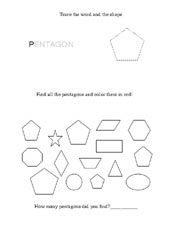 worksheet shape pentagon
