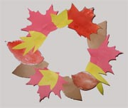 Kids Craft - Autumn Wreath from Leaves