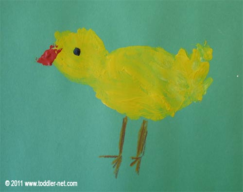 little chicken painting