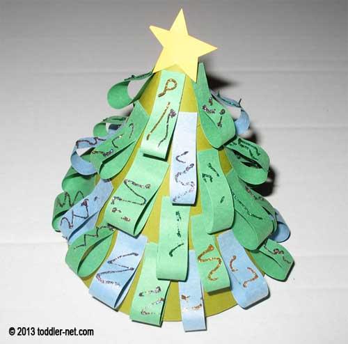 Christmas craft for kids paper christmas tree for Christmas tree arts and crafts