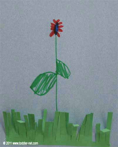 grass with flower art project