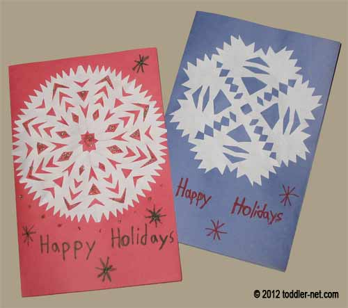 Different snowflake holiday cards