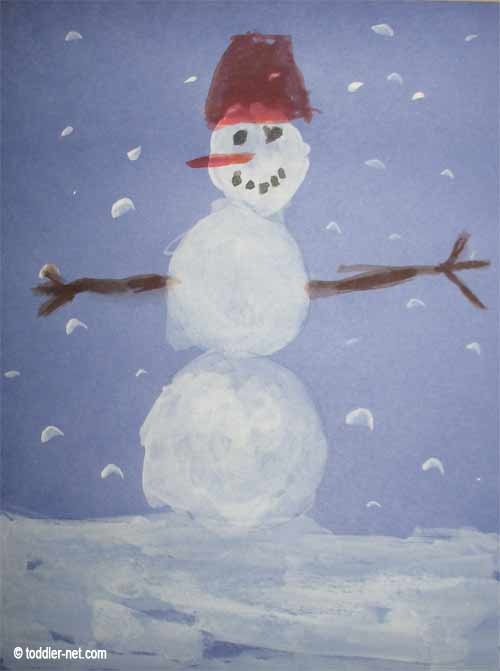 Painting a snowman for How to paint snowmen