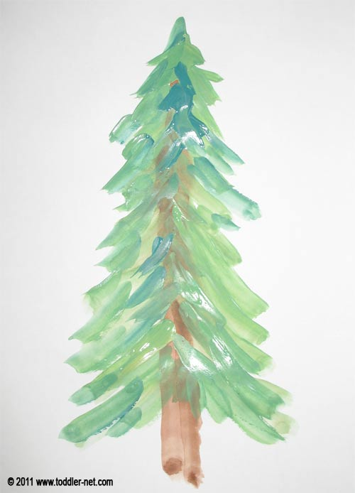 christmas tree painting - How To Paint A Christmas Tree