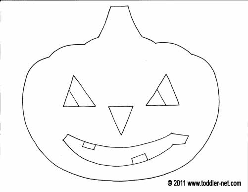 on a blue or brown or other dark sheet of paper draw a few triangles the pumpkins eyes and nose and a mouth let your child cut all of these pieces out