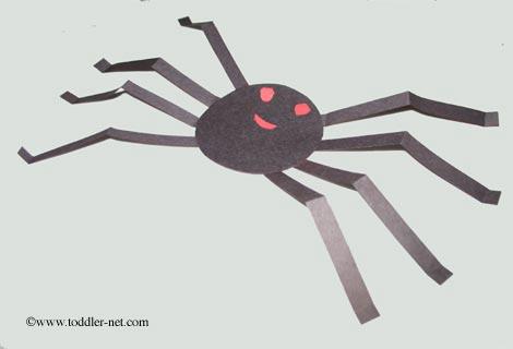 Halloween Craft Black Paper Spider