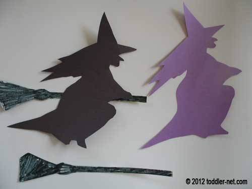 witch and broom cutouts