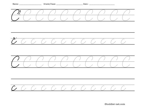 learn cursive writing worksheets