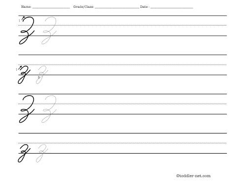 cursive letter z worksheet. Black Bedroom Furniture Sets. Home Design Ideas