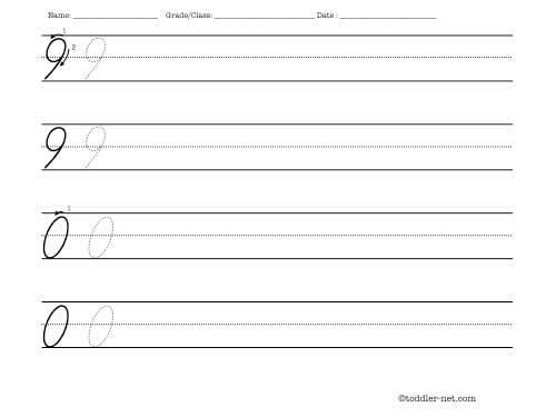 Cursive Numbers 9 And 0 Handwriting Worksheet