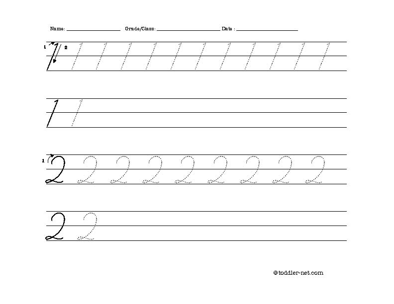 ... is required you can get it here 1 cursive numbers 1 and 2 worksheet