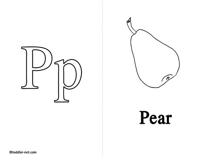 Free Printable Letter P Flashcard and Worksheet