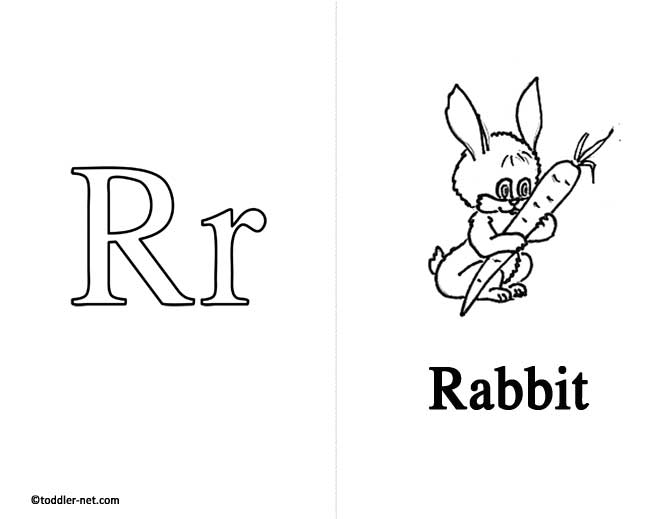 Free Printable Letter R Flashcard and Worksheet