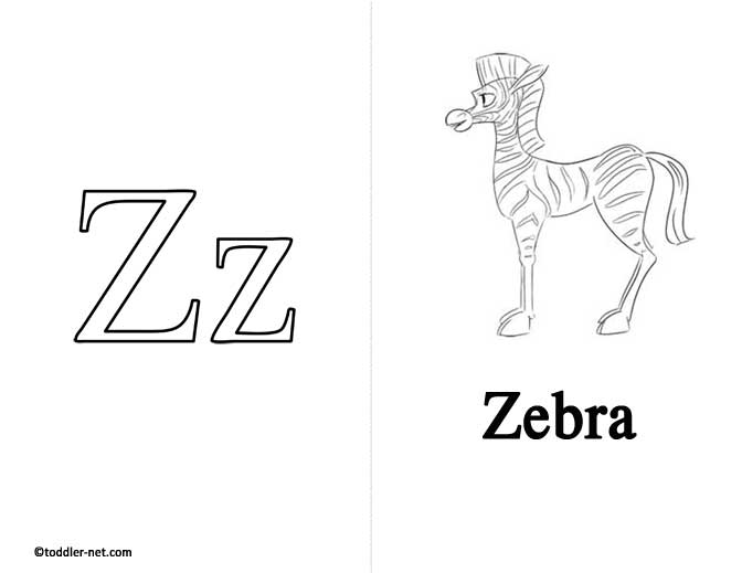 Free Printable Letter Z Flashcard and Worksheet