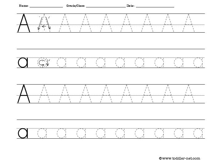 Free Tracing Letter A Worksheet – Alphabet Tracing Worksheets