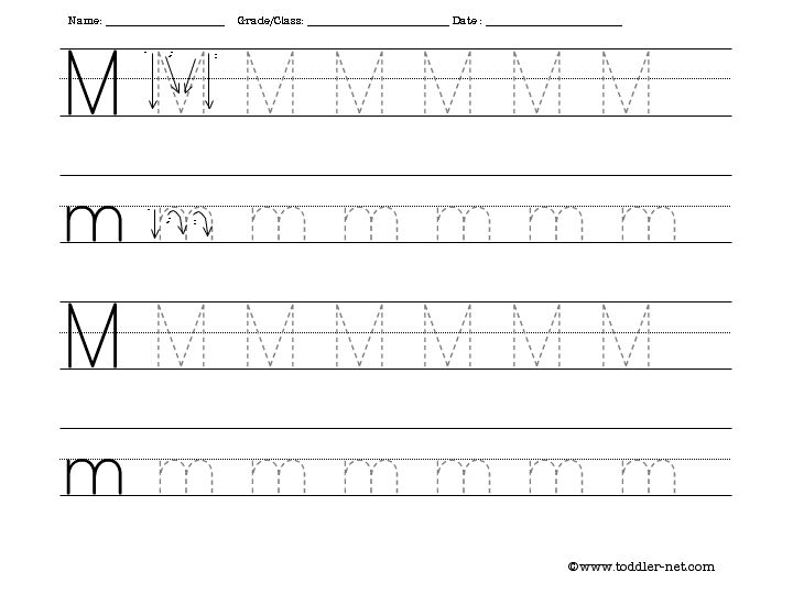 Printables Tracing Letters Worksheets free letter tracing worksheets m worksheet