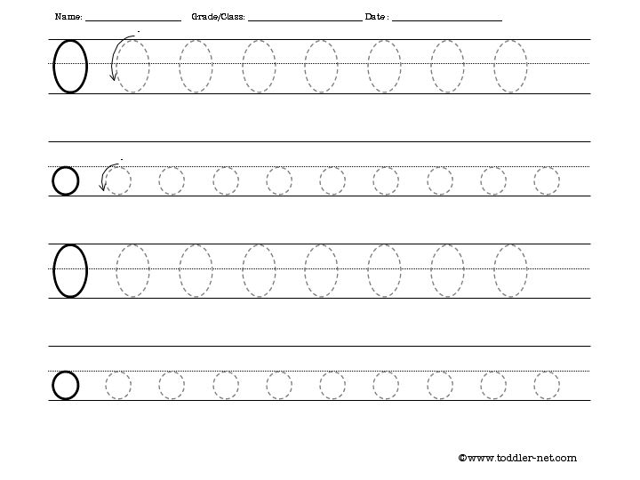 Free Tracing Letter O Worksheet – Letter O Worksheets Kindergarten