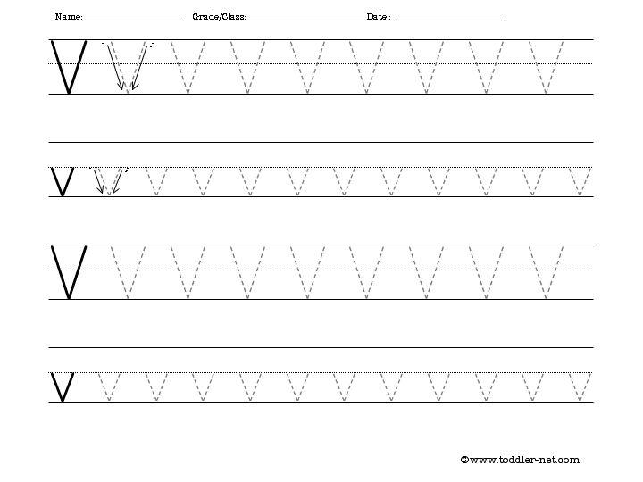 Number Names Worksheets free printable alphabet tracing sheets : Free Tracing Letter V Worksheet