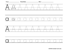 Printables Free Printable Letter Tracing Worksheets free letter tracing worksheets a worksheet
