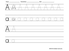 Worksheets Letter A Worksheets letter worksheets for tracing and writing a worksheet toddler net worksheets