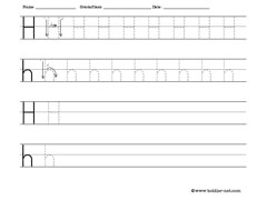 Tracing and Writing Letter H Worksheet