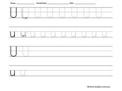 Tracing and writing letter u worksheet tracingwriting letter u altavistaventures Gallery