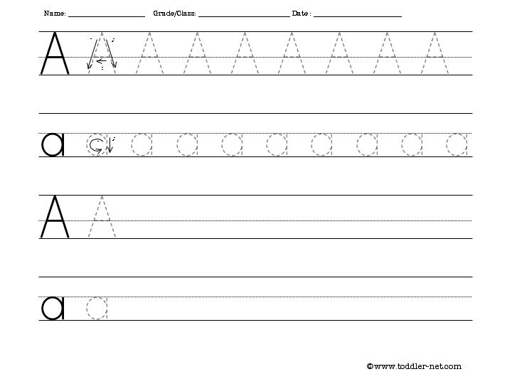 Tracing and Writing Letter A Worksheet – A Worksheet