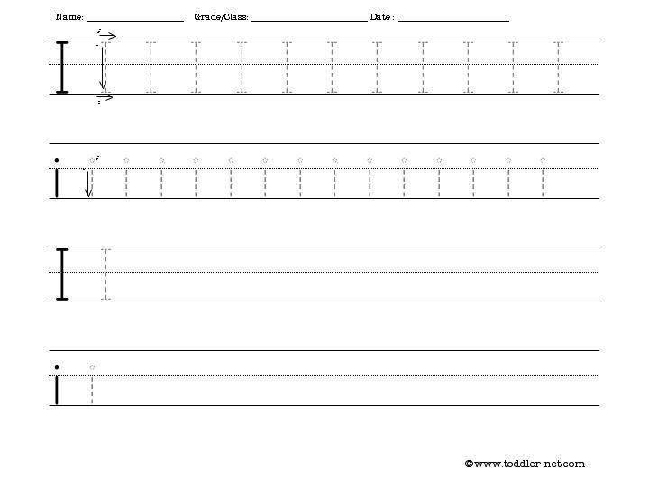 Free Worksheets » Handwriting Letter Worksheets - Free Printable ...