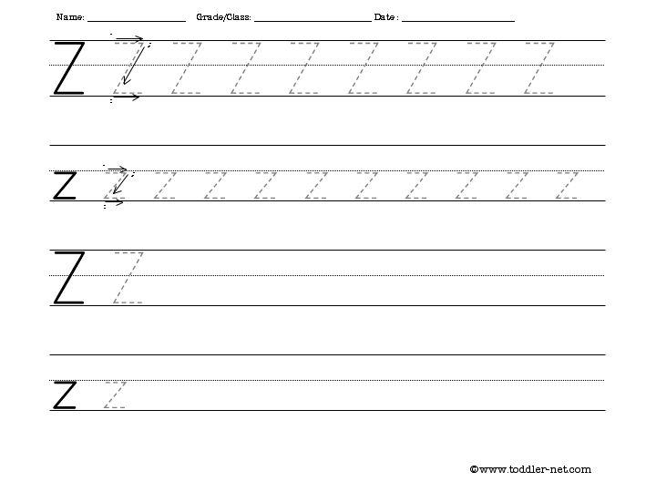 Number Names Worksheets practice letter writing worksheets : Tracing and Writing Letter Z Worksheet