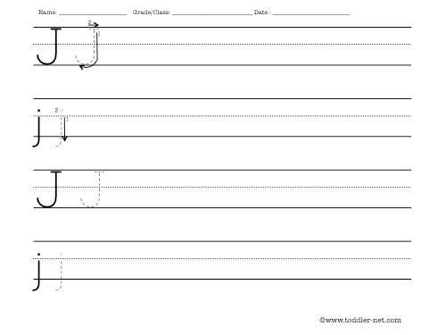 letter j worksheet. Black Bedroom Furniture Sets. Home Design Ideas