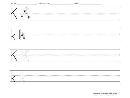 letter k worksheet. Black Bedroom Furniture Sets. Home Design Ideas