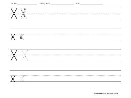 Number Names Worksheets practice letter writing worksheets : Letter X Worksheet