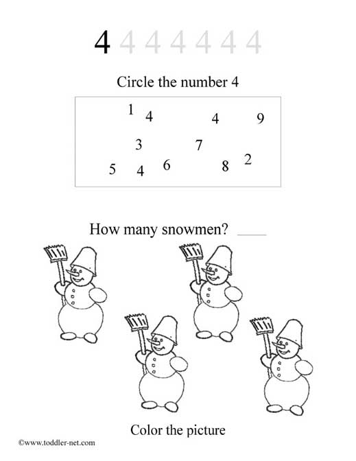 photo about Printable Number 4 named No cost Printable Figures Worksheets and Game Sheets for Little ones